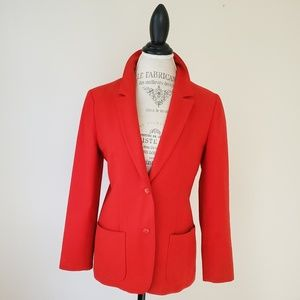 Pendleton | Vintage Bright Red Wool Blazer Jacket